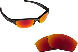 New SEEK Replacement Lenses Oakley FLAK JACKET Asian Fit Polarized Red - $18.30