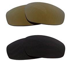 New Seek Optics Replacement Lenses Oakley Wind Jacket   Black Gold - $23.25