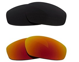 New Seek Optics Replacement Lenses Oakley Wind Jacket   Grey Red - $23.25