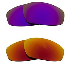 New SEEK OPTICS Replacement Lenses Oakley WIND JACKET - Purple Red - $23.25