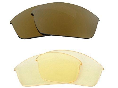 New SEEK Replacement Lenses Oakley FLAK JACKET - HI Yellow Gold