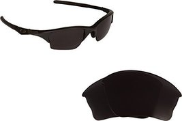 New SEEK OPTICS Replacement Lenses Oakley HALF JACKET XLJ - Polarized Black - $18.30