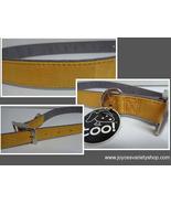 "Large Breed 26"" Leather Dog Collar Yellow NWT - $10.99"