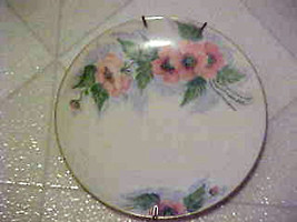 """Vintage Plate Hand Painted Polly Mathews 1963 Poppy Flower Porcelain 7""""  - $12.82"""