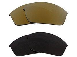 New Seek Optics Replacement Lenses Oakley Flak Jacket   Black Gold - $23.25