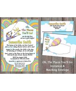 Oh, the places you'll go Invitation,  Matching Envelope, Baby Shower, dr... - $1.45