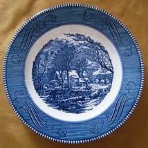"Vintage Currier and Ives 10"" Diameter Plate,The Old Grist Mill, Royal China - $6.00"