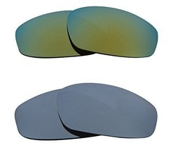 New SEEK OPTICS Replacement Lenses Oakley SPLIT JACKET - Black Green - $23.25