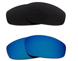 New Seek Replacement Lenses Oakley Wind Jacket   Polarized Grey Blue - $33.15