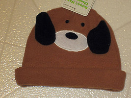 Infant Hat New Brown Puppy Dog With Ears Soft Warm Cap - $7.87