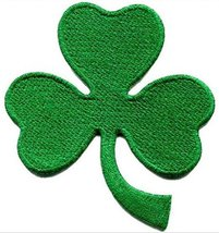 Lucky Irish Shamrock Clover Embroidered Patch - 2 3/4 x 3 inch - $5.89