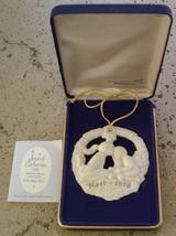 Gorham Parian Medallion Christmas Kiss ornament 1978 - $19.99