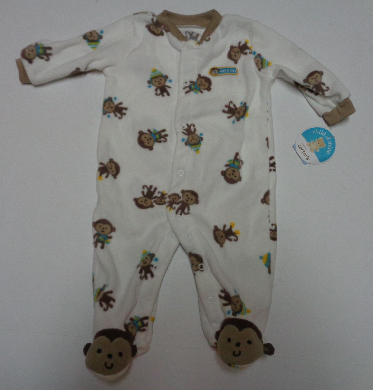 Carter's Child of Mine Cozie One Piece NWT 3-6 Months
