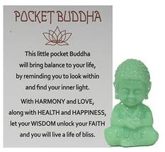 Gnz 1.5 Inch Pocket Buddah Charm/Shelf Sitter with Story Card (Luck) - £3.34 GBP