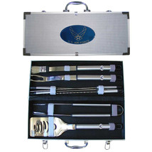 air force stainless steel 8 piece bbq set with case - $90.24