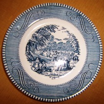"Vintage Currier and Ives 6"" Diameter Plate, Royal China, Made in U.S.A - $3.00"