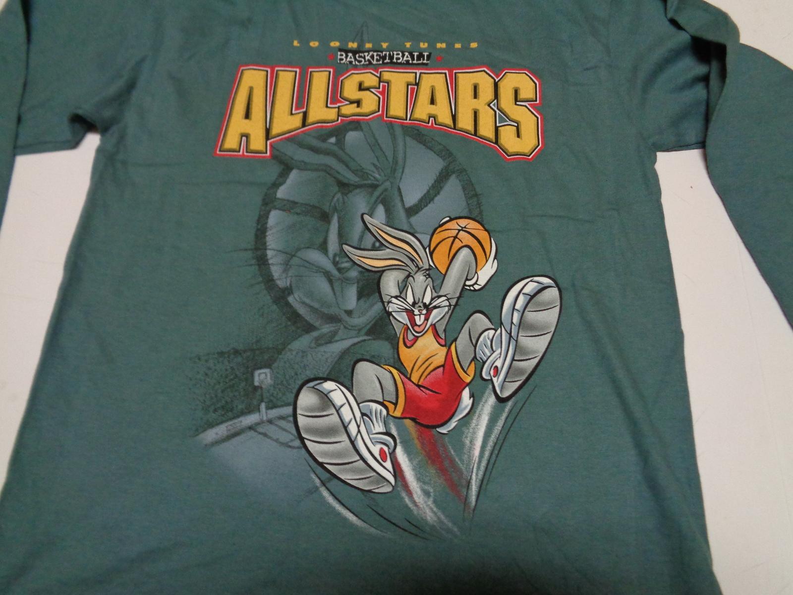 Looney Tunes Allstar Basketball Shirt Youth Sz Medium NWT Green Bugs Bunny