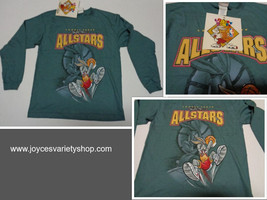 Looney Tunes Allstar Basketball Shirt Youth Sz Medium NWT Green Bugs Bunny - $8.99