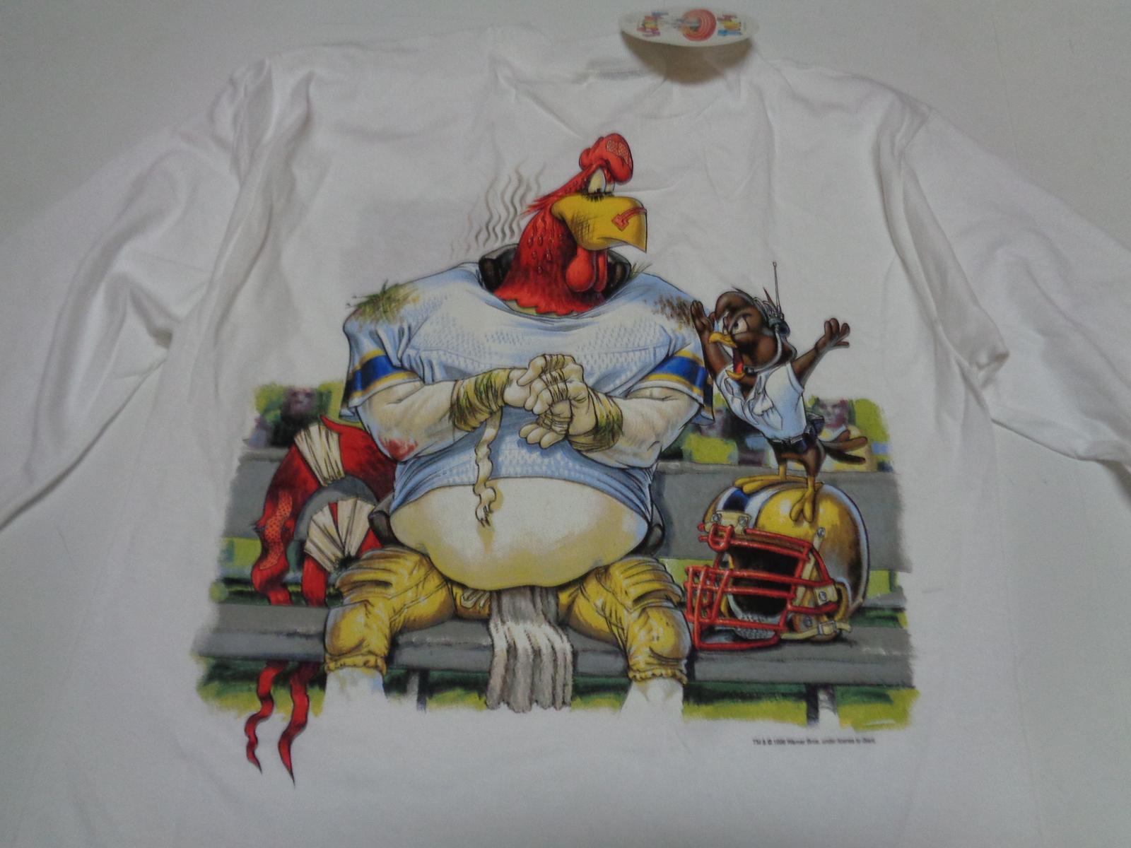 Looney Tunes Football League Gridiron Youth Shirt Foghorn Leghorn NWT Sz L