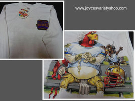 Looney Tunes Football League Gridiron Youth Shirt Foghorn Leghorn NWT Sz L - $10.99
