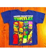 BOYS SZ M BLUE & GREEN TEENAGE MUTANT NINJA TURTLE NICKELODEON T-SHIRT - $4.99