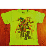 BOYS SZ M NEON GREEN TEENAGE MUTANT NINJA TURTLE NICKELODEON T-SHIRT - $4.99