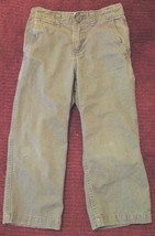 Boys Gap Boot Fit Khaki Pants Sz 5 Adjustable Waist 4 Pocket Belt Loops Zip Hook - $6.99