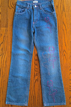 CHILDREN'S PLACE SZ 8 GIRLS BALLERINA JEANS PANTS WITH SPARKLES ON LEFT ... - $9.89