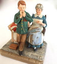"LG NORMAN ROCKWELL AUTHENTIC MUSEUM FIGURINE BOY ""HELPING MOTHER"" 4x5x6""... - $57.41"