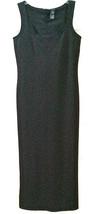 LIZ CLAIBORNE COLLECTION STRETCHY LONG BLACK DRESS SIZE S EUC NYLON & SP... - $12.99