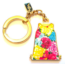 """Lilly Pulitzer Floral Shift Gold Tone Key Ring Keychain Fob """"OH SHIFT!"""" ... - $19.98"""