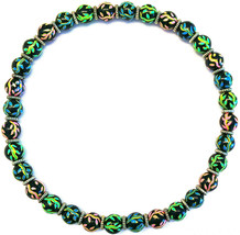 NEW ANGELA MOORE GREEN BLUE PINK YELLOW ORANGE NECKLACE - $49.49