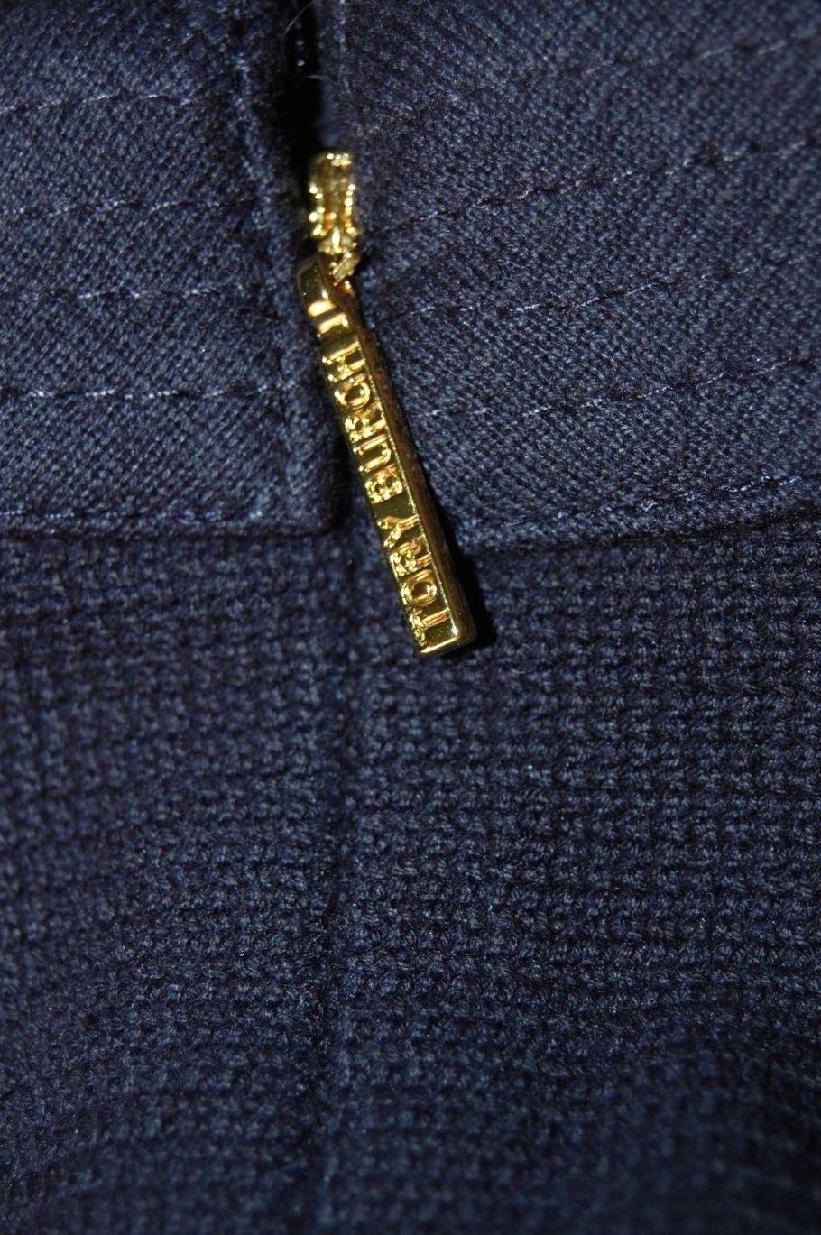 f61f25be9fe9 NEW $325 SZ L TORY BURCH WOMENS ADDIS NORMANDY NAVY BLUE INVERT PLEAT DRESS