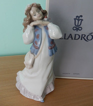NEW IN BOX $495 LLADRO #6401 DREAMS OF SUMMER PAST GIRL W/FLOWERS IN HAI... - $227.69