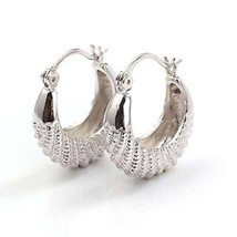 "NEW Premier Designs 9K White Gold Filled ""Caterpillar"" Ladies Hoop Earrings - $17.98"