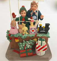 "NORMAN ROCKWELL CHRISTMAS MUSEUM FIGURINE ""HIGH HOPES"" 6.75x5.5x4.5"" 2 LBS - $69.29"