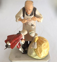 "NORMAN ROCKWELL LIMITED ED NUMBERED GORHAM FIGURINE ""THE PUPPET MAKER"" 7... - $118.79"