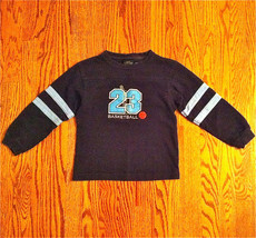 SONOMA BOYS BASKETBALL #23 NAVY BLUE LONG SLEEVE HEAVY COTTON SHIRT SZ M... - $8.90