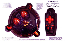 WEE BOT 2000 by SHARPER IMAGE NEW IN BOX QUICK DRAW ZAPPIN' WEE ROBOT PE... - $24.74