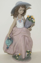 NEW IN BOX LLADRO A WISH COME TRUE #7676 GIRL FLOWERS FIGURINE COLLECTOR... - $296.99