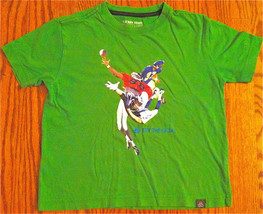 "OLD NAVY BOYS SZ XS 5,6,7,8 GREEN FOOTBALL T-SHIRT ""GET THE GOAL""  EUC - $5.99"