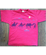 MKM RED BOYS SHIRT WITH CAMELS SIZE S 8-10 EUC - $4.99