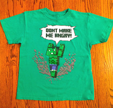 "BOY'S SZ M MARVEL GREEN SHORT SLEEVE LEGO T-SHIRT ""DON'T MAKE ME ANGRY"" ... - $6.99"