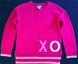 """OLD NAVY SZ L 10-12 GIRLS LONG SLEEVE PINK & PEACH """"X"""" & """"O"""" ON FRONT & ... - $11.87"""