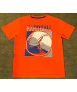 NEW BOY'S SZ M OLD NAVY ORANGE SHORT SLEEVE T-SHIRT BASEBALL HARDBALL - $5.99