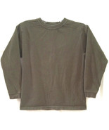 BOY'S SZ SMALL ARMY GREEN FADED GLORY KNIT TOP T-SHIRT LONG SLEEVES - $6.92
