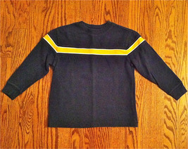 OLD NAVY BOYS NAVY & YELLOW LONG SLEEVE HEAVY RIBBED COTTON SHIRT SZ 5 EUC - $9.89