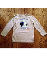 PLACE BOYS BEIGE BROWN LONG SLEEVE T-SHIRT SZ M 7-8 PACIFIC PANTHERS #27... - $7.99