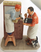 "HUGE 1ST EDITION WINTER NORMAN ROCKWELL FIGURINE ""YEAR END COUNT"" 7.5x7.... - $108.89"