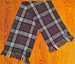 "NWT MENS COLOURS GRAY WHITE BLACK RED PLAID RAYON SCARF SHAWL THROW 66""x... - £10.64 GBP"